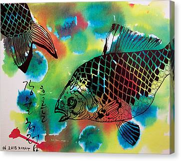 River Fishes Canvas Print by Jungsu Lim