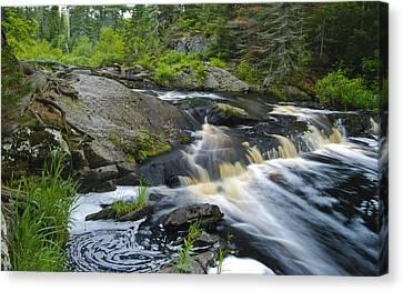 River Flow V Canvas Print by Sean Holmquist