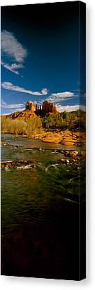 River Flowing Through Rocks, Red Rock Canvas Print by Panoramic Images