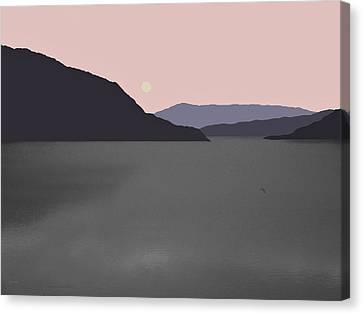 River Fog Canvas Print by Val Arie