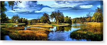 River Fork Pano Canvas Print by Rick Friedle