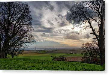 Canvas Print featuring the photograph River Forth View From Clackmannan Tower by Jeremy Lavender Photography