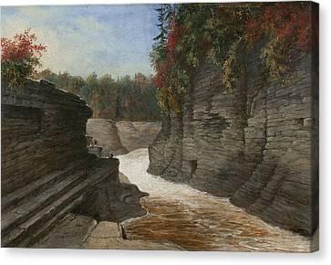 River Gorge, Autumn Canvas Print