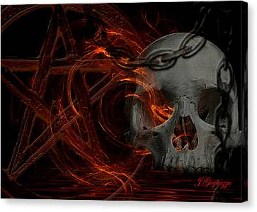 River Hell Canvas Print by Jean Gugliuzza