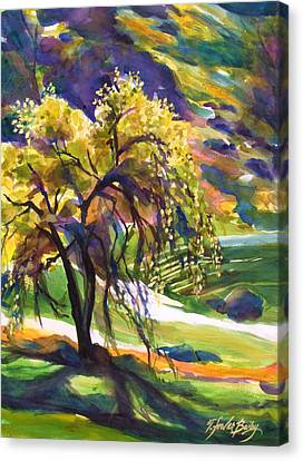 River Island Lone Oak Canvas Print by Therese Fowler-Bailey