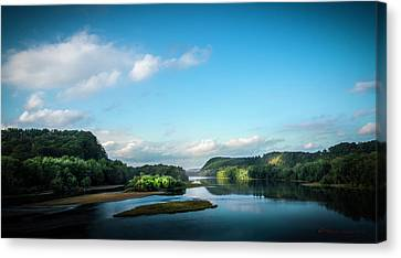 Canvas Print featuring the photograph River Islands by Marvin Spates