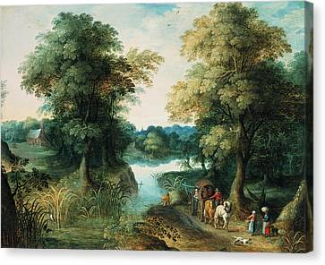 Bruegel Canvas Print - River Landscape by Pieter the Elder Bruegel