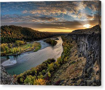 Crepuscular Rays Canvas Print - River Magic by Leland D Howard