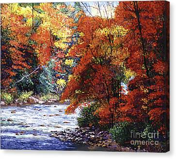 Autumn Leaf Canvas Print - River Of Colors by David Lloyd Glover