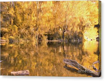 River Of Fire By Kaye Menner Canvas Print