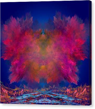 River Of Fire Canvas Print by Mark W Ballard