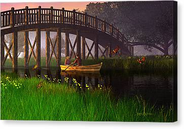River Of Poems Canvas Print by Dieter Carlton