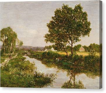 Riviere Canvas Print - River On The Outskirts Of Quimper by Eugene Louis Boudin