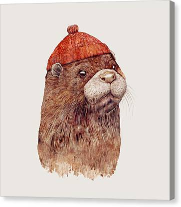 River Otter Canvas Print by Animal Crew