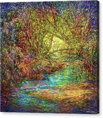 River Peace Remembering Canvas Print by Joel Bruce Wallach