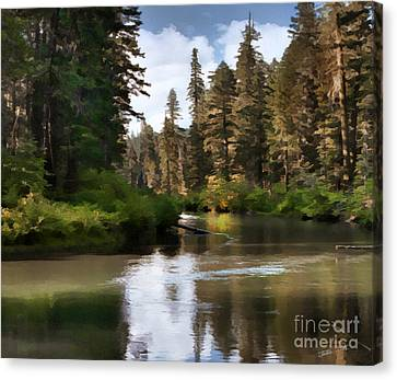 Canvas Print featuring the painting Millers Creek Painterly by Peter Piatt