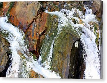 River Power Dashed Upon The Rocks Canvas Print