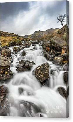 River Rapids Snowdonia Canvas Print by Adrian Evans