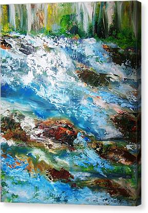 Patricia Taylor Canvas Print - River Rapids With Falling Water by Patricia Taylor