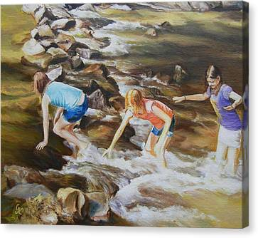 River Rats Canvas Print by George Kramer