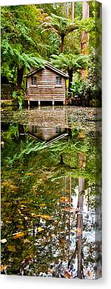 Shed Canvas Print - River Reflections by Az Jackson