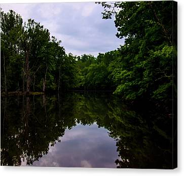 Canvas Print featuring the digital art River Reflections by Chris Flees