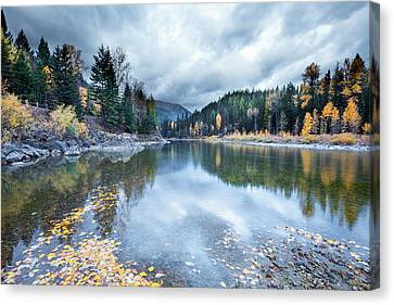 Canvas Print featuring the photograph River Reflections by Fran Riley