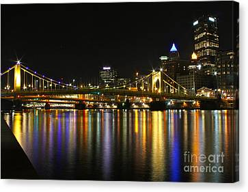 Canvas Print featuring the photograph River Reflections by Jay Nodianos