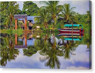 River Reflections Canvas Print by Nadia Sanowar