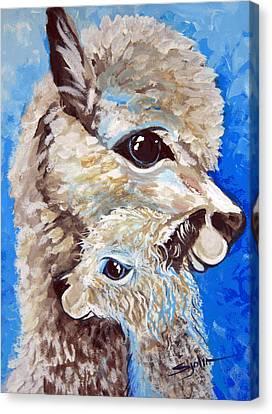 River Ridge Alpaca Canvas Print by Patty Sjolin