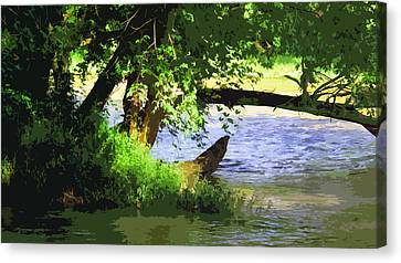 River Ripple Voices Canvas Print