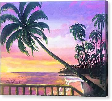 River Road Sunrise Canvas Print