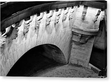 White River Scene Canvas Print - River Seine Bridge by Tony Grider