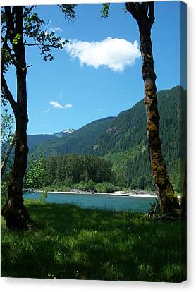 River Shade Canvas Print by Ken Day