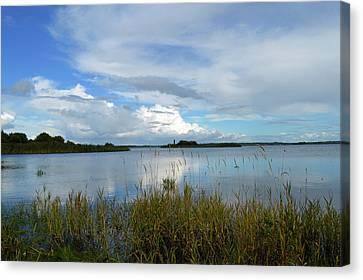 River Shannon At Hodson Bay. Canvas Print