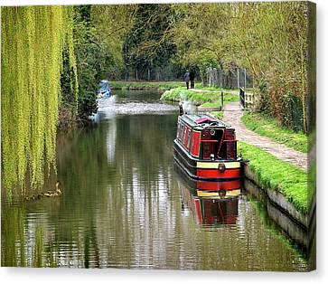 Canvas Print featuring the photograph River Stort In April by Gill Billington