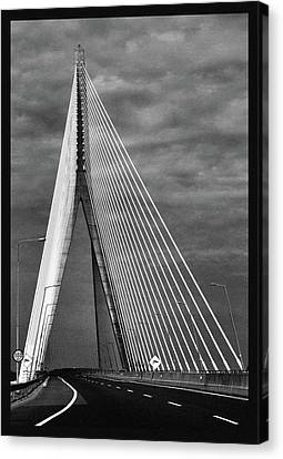 Canvas Print featuring the photograph River Suir Bridge. by Terence Davis
