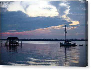 Canvas Print featuring the photograph River Sunset by Anthony Baatz