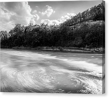 River Swirls Canvas Print