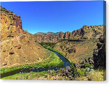 Canvas Print featuring the photograph River Through Mountains by Jonny D