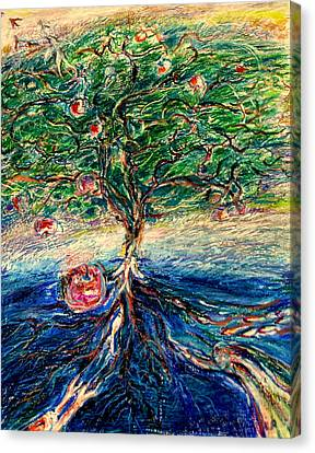River Tree Canvas Print by Laurie Parker