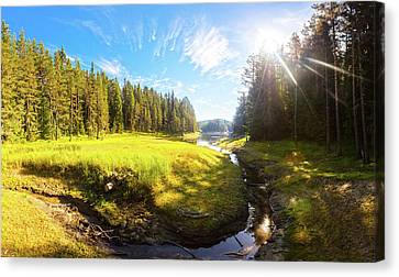 River Valley Canvas Print by Evgeni Dinev