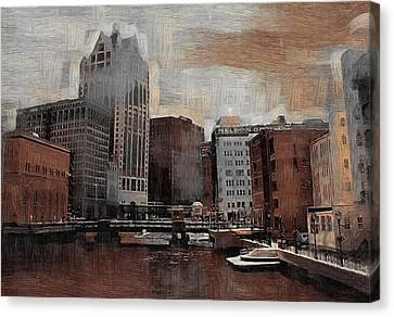 River View Aged Canvas Print by Anita Burgermeister