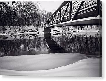 Cook Canvas Print - River View B And W by Steve Gadomski