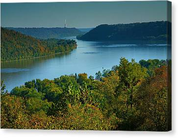 Indiana Landscapes Canvas Print - River View II by Steven Ainsworth