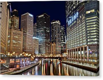 River View Of The Windy City Canvas Print by Frozen in Time Fine Art Photography