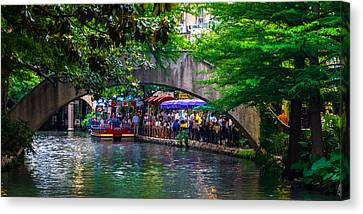 River Walk Dining Canvas Print