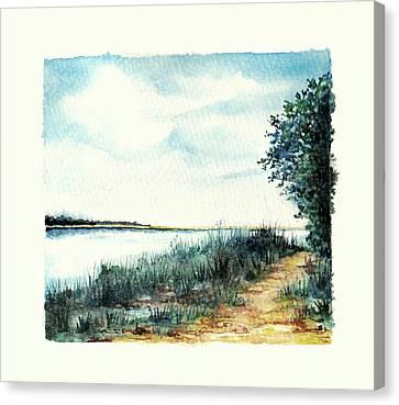 River Walk Canvas Print by Heidi Kriel