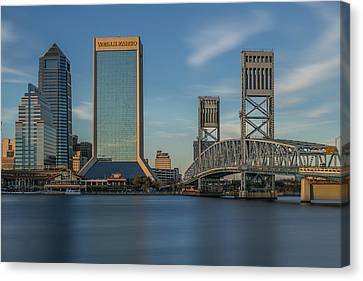 Florida Bridge Canvas Print - River Walk Jacksonville by Capt Gerry Hare