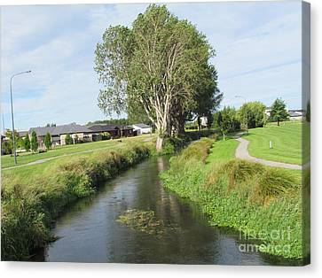 River Walk. Canvas Print by Joyce Woodhouse